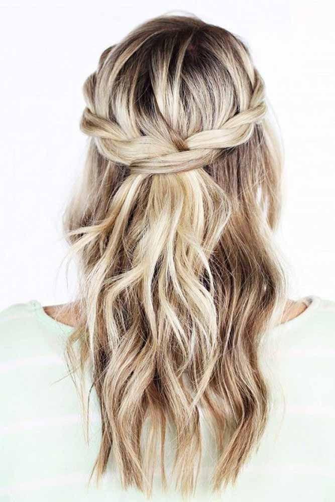 Wedding Hairstyles For Short Hair Half Up Half Down Wedding Ideas