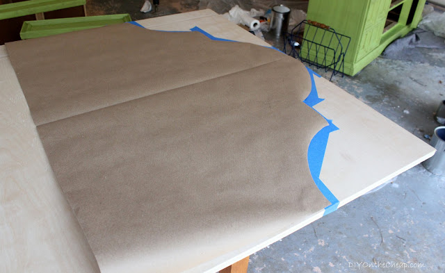 Wood and Nailhead Headboard Tutorial via DIYOntheCheap.com