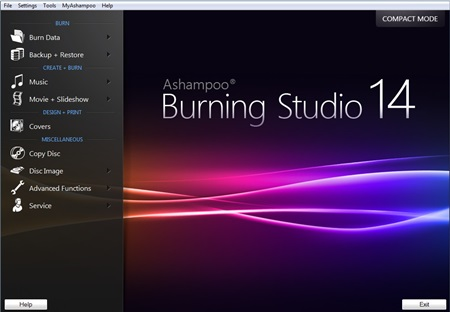 Ashampoo Burning Studio 14 Pro Image Burner