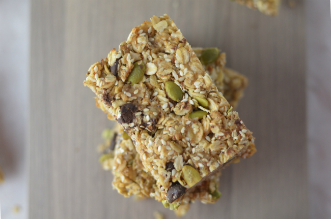 Vegan Granola Bars with Sesame and Coconut Bars