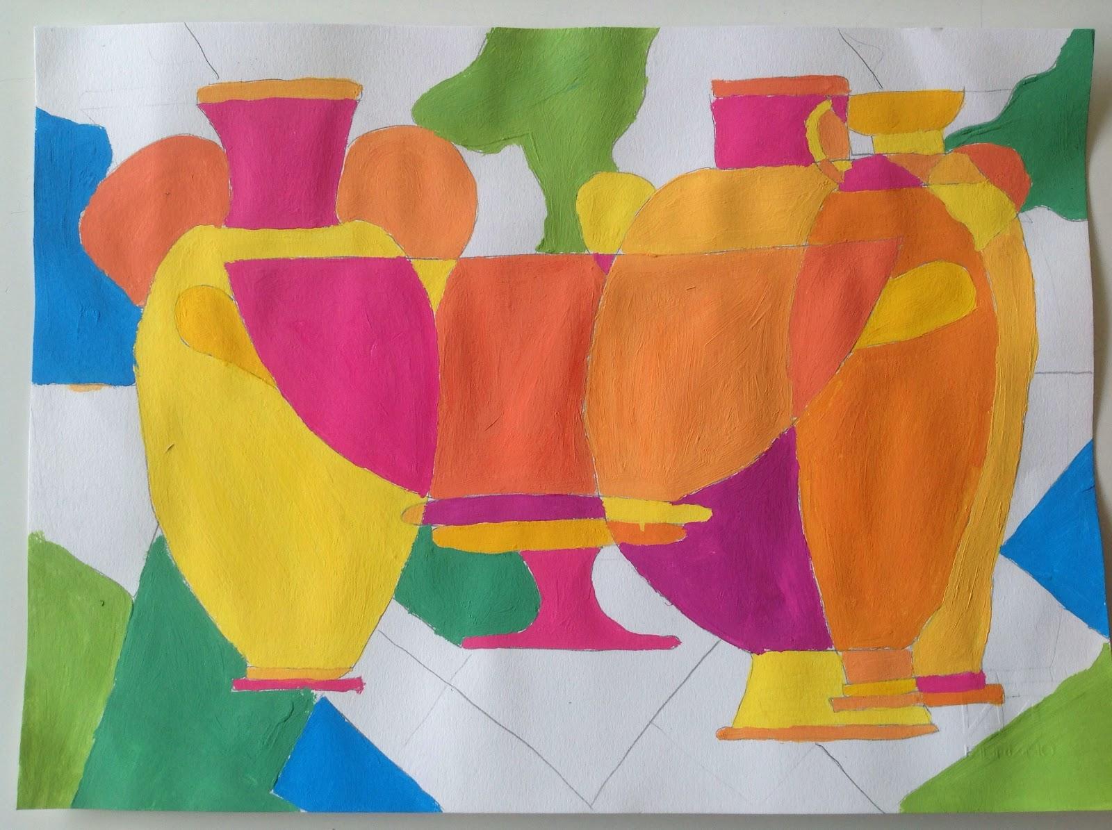 Vasi greci con colori caldi e freddi artisticascuola for Disegni a colori caldi