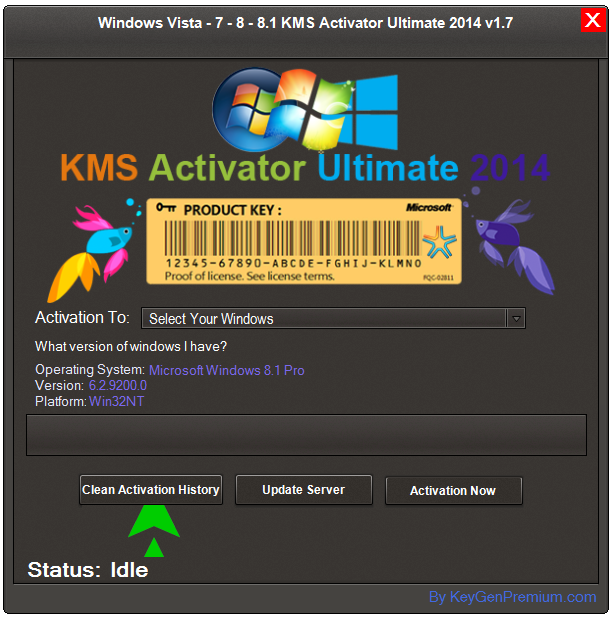 Windows Vista-7-8-8.1 KMS Activator Ultimate 2014 v1.7 | 10.0 MB