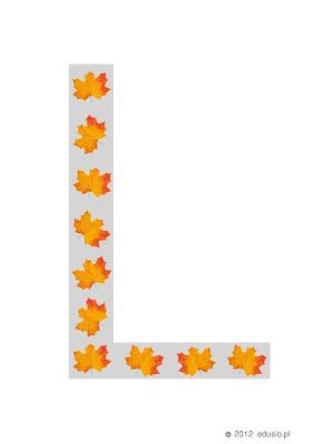 litery dla dzieci do wydrukowania