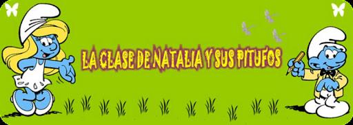 La clase de Natalia y sus pitufos.