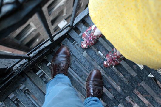 asos shoes manhattan rooftop