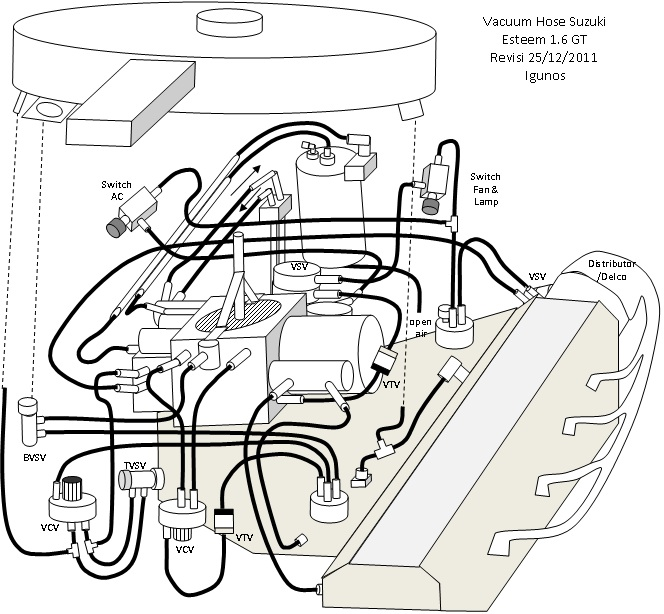 aisan carburetor diagram