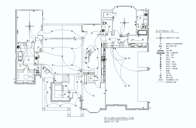 1st floor electrical plan