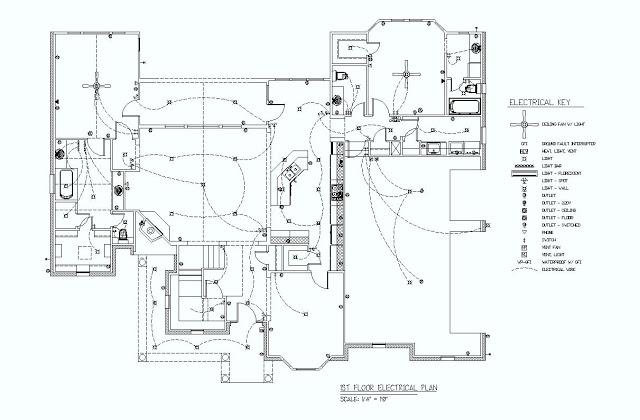 1st floor electrical plan