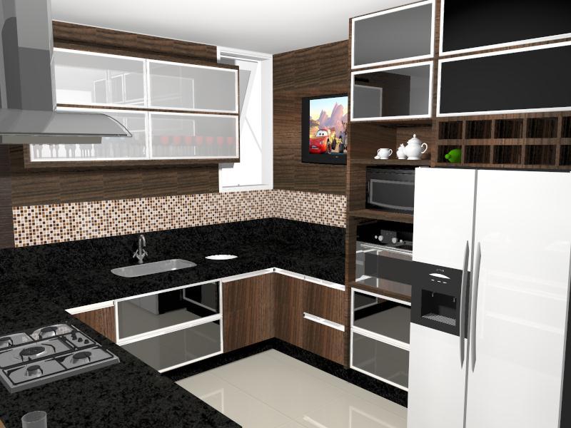Construindo um castelinho projeto da cozinha planejada - Armarios para sala de estar ...