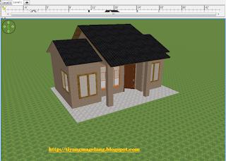 cara memasang atap di sweet home 3d