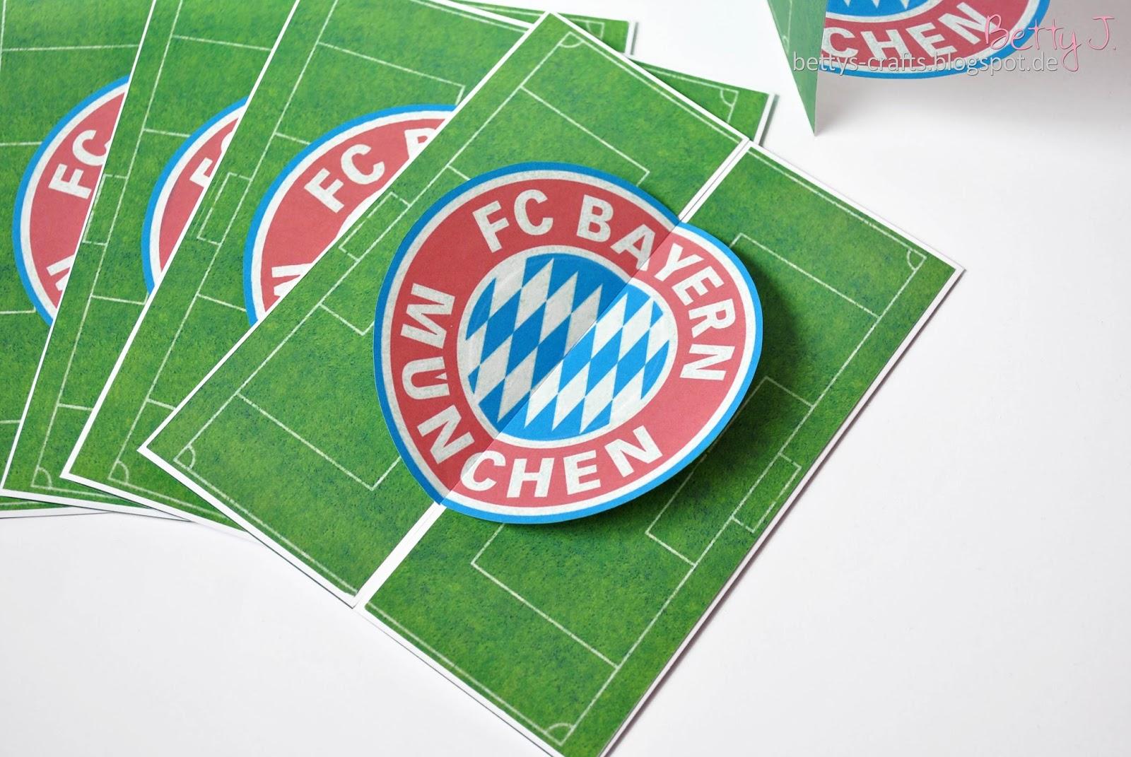 Bettys Crafts: Bayern München Geburtstagseinladung, Kreative Einladungen
