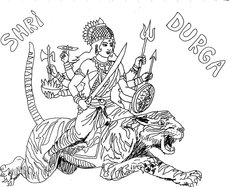 hindu gods printable coloring pages - photo#25