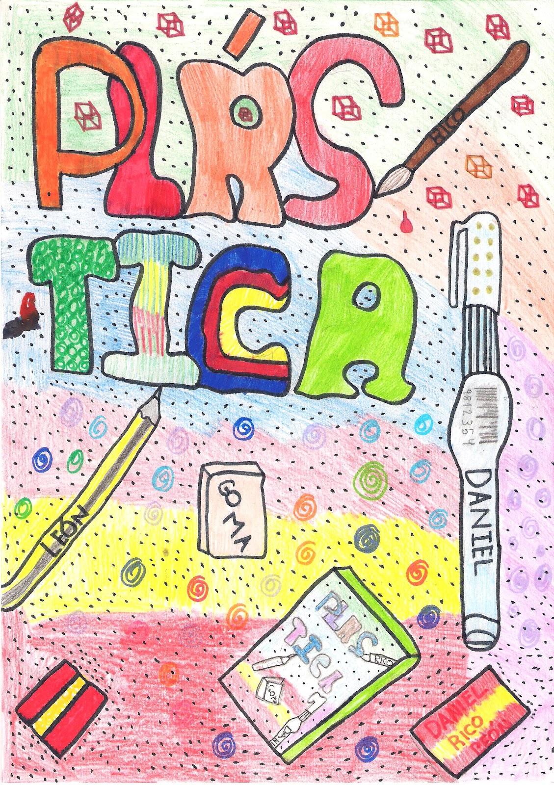 En la clase de pl stica vuestros trabajos de dise o de for Caratulas de artes plasticas para secundaria