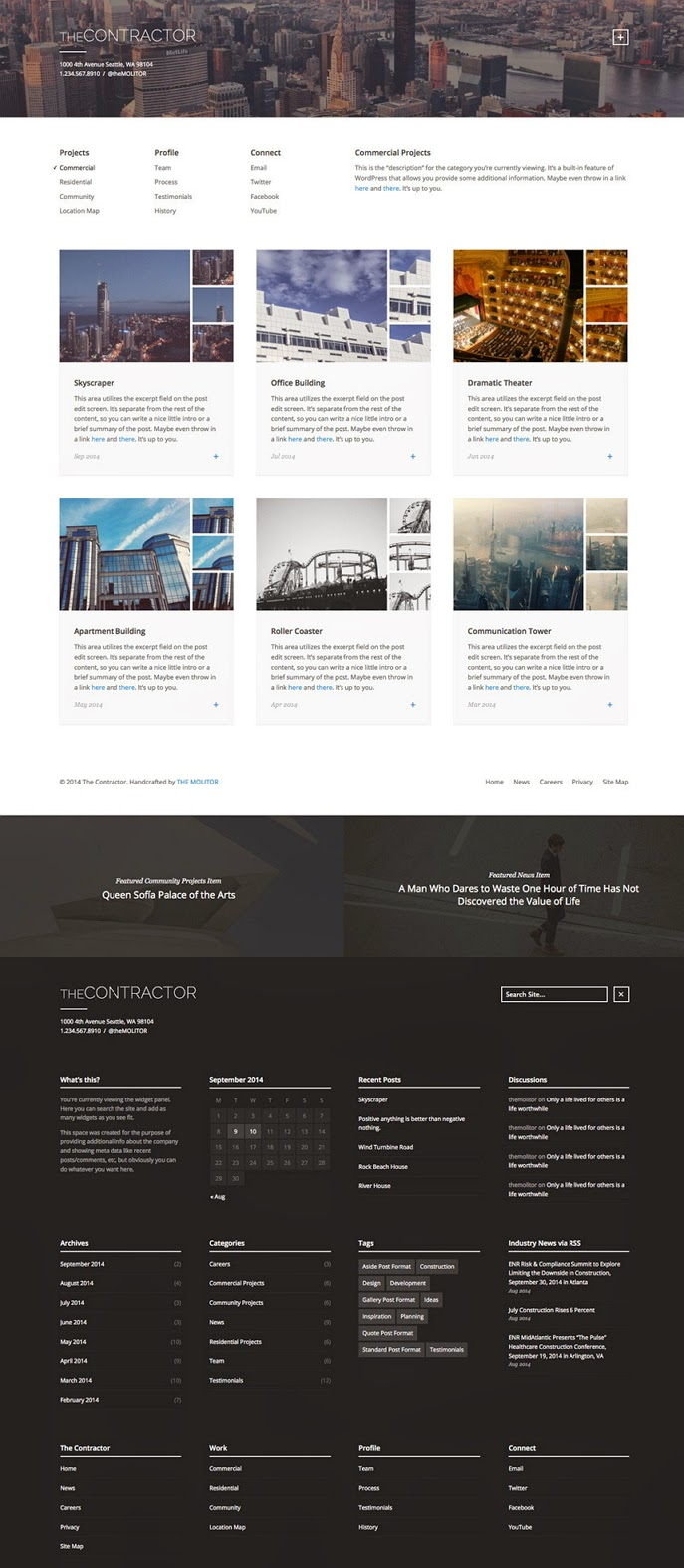 Responsive Architech website theme