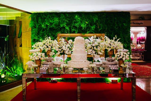 mesa do bolo braca decoração doces