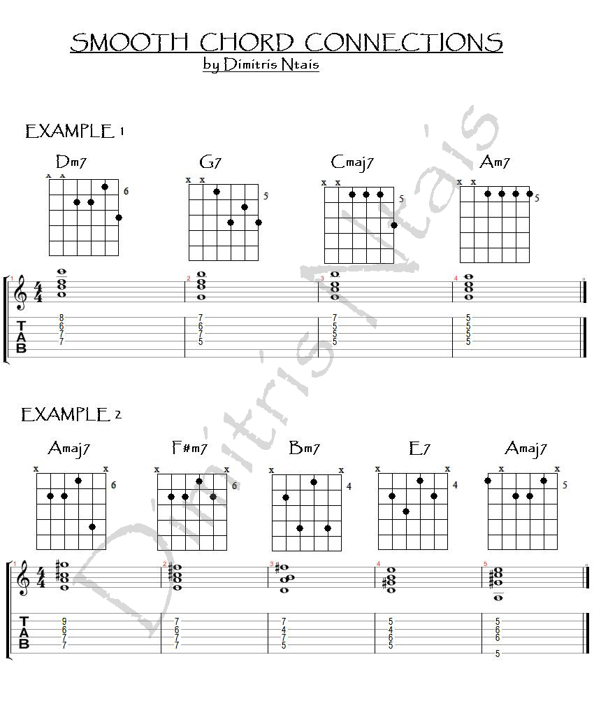 Dimitris ntais guitar smooth chord connections i smooth chord connections i hexwebz Images