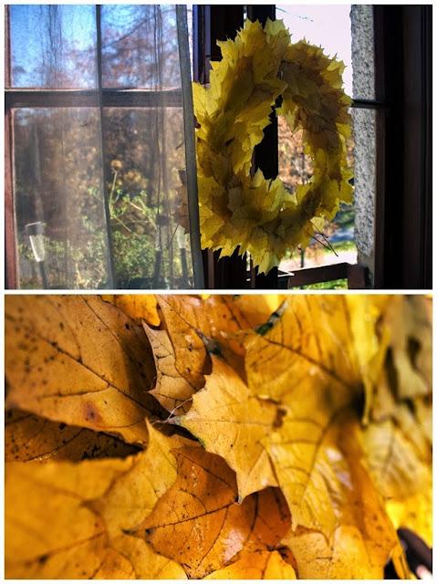 Prosty wianek z liści