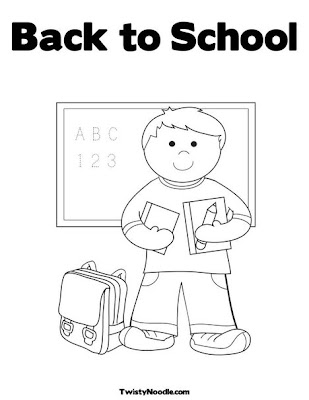 back to school coloring book pages