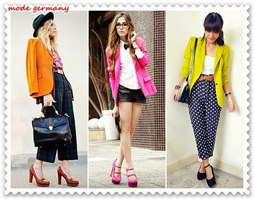 Ladies, momentan sind farbige Jacken der Trend.