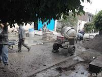 Obras de pavimentación en Irámuco