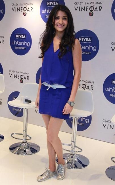 anushka sharma at nivea whitening deodorant promotional event. glamour  images