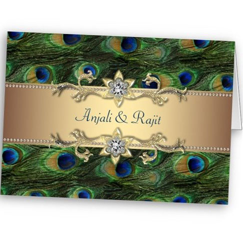 Peacock feather invitation template - photo#25
