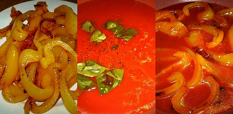 Uova in salsa di peperoni prepariamo la salsa