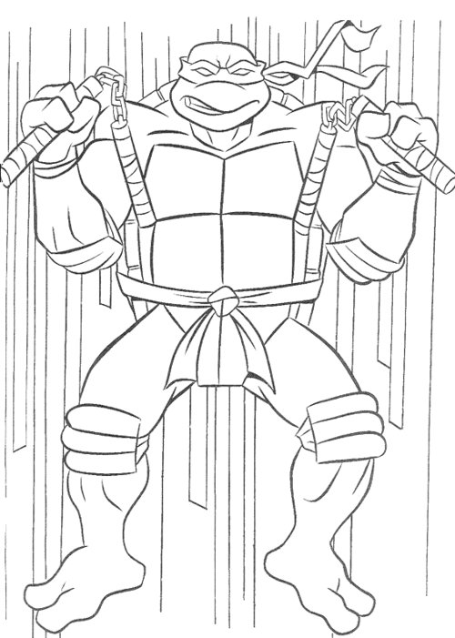 Tmnt Coloring Pages April : Free coloring pages teenage mutant ninja turtles