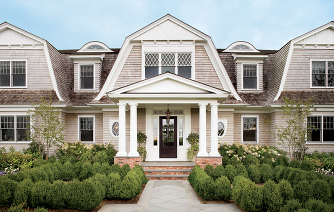 Hollywood cape cod gambrel roof lines Hampton style house plans