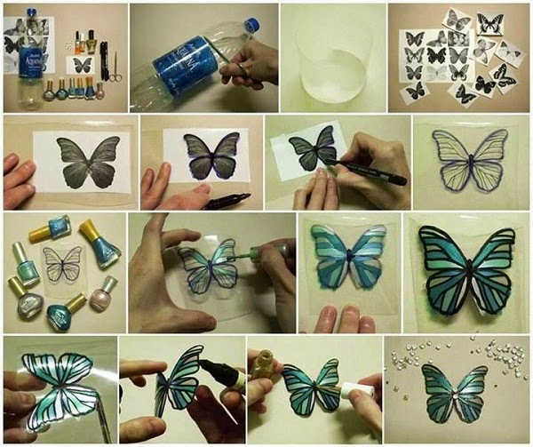 DIY Butterfly from Plastic Bottle