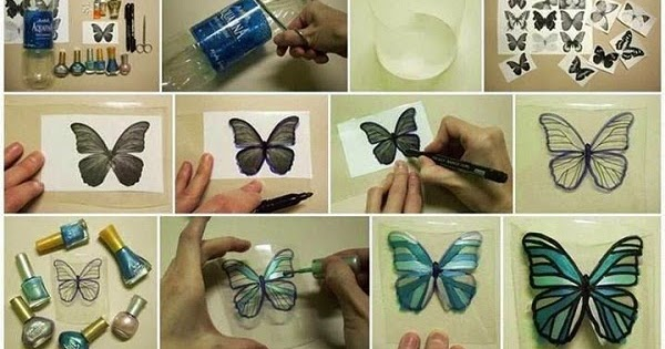 Diy butterfly from plastic bottle diy craft projects for Home decor using plastic bottles