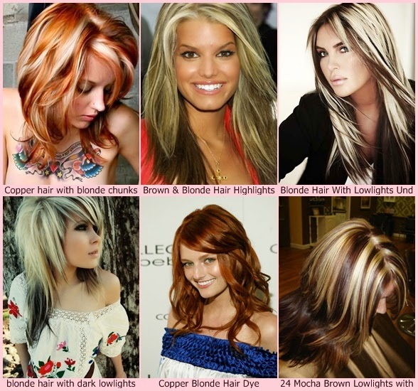 ... klo2oylcp1 red hair with blonde highlights hair like blonde chunks