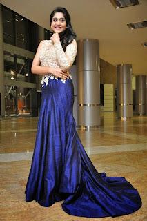 Actress Regina Candra Picture Gallery in Designer Long Dress at Pilla Nuvvu Leni Jeevitham Movie Success Meet  4.jpg