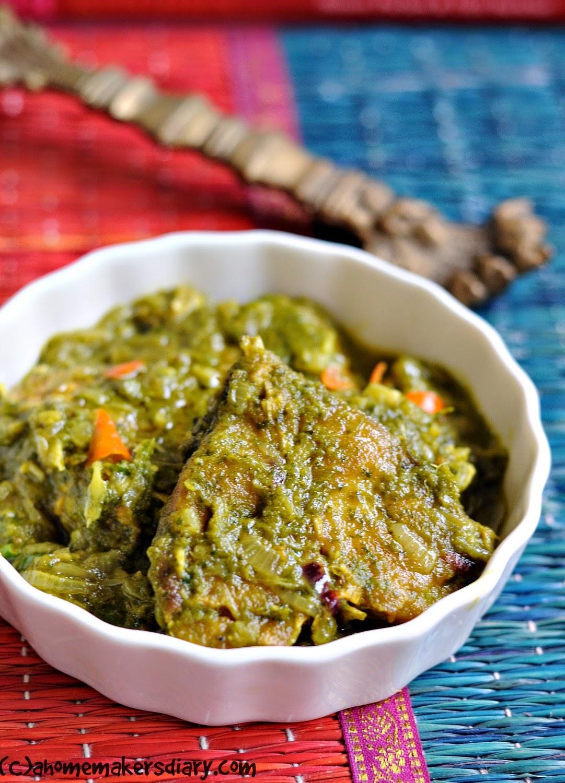 Dhonepata Mach (Fish in Fresh Coriander Sauce)
