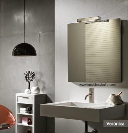 Aplique veronica luz espejo ba o tu cocina y ba o - Precio espejo bano ...