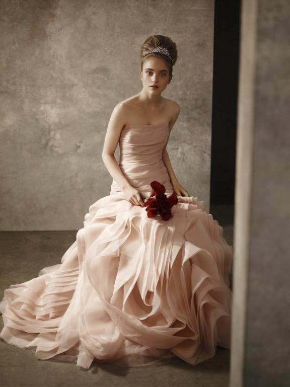 Down the aisle the color blush for Pink wedding dress vera wang