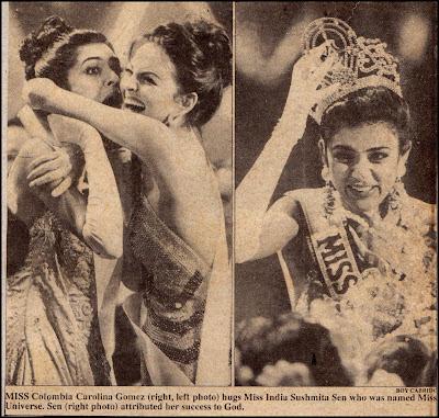 Sushmita Sen, Miss Universe, Ms. Universe, 1994