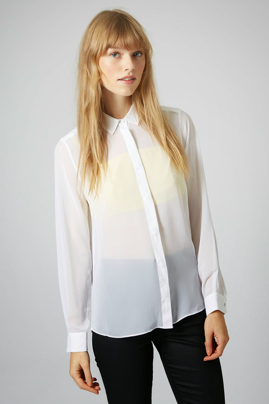 white shirt with yellow