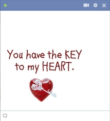 Key to heart emoticon