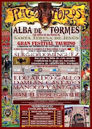 Manolo Vanegas, anunciado en el festival de Alba de Tormes, el 22/10.