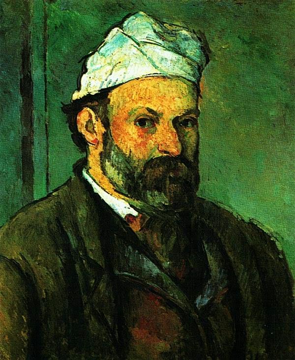 Поль Сезанн. Автопортрет в колпаке. 1881.