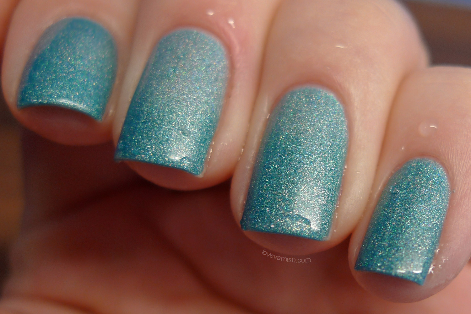 Liquid Sky Lacquer Teal It Like It Is transition