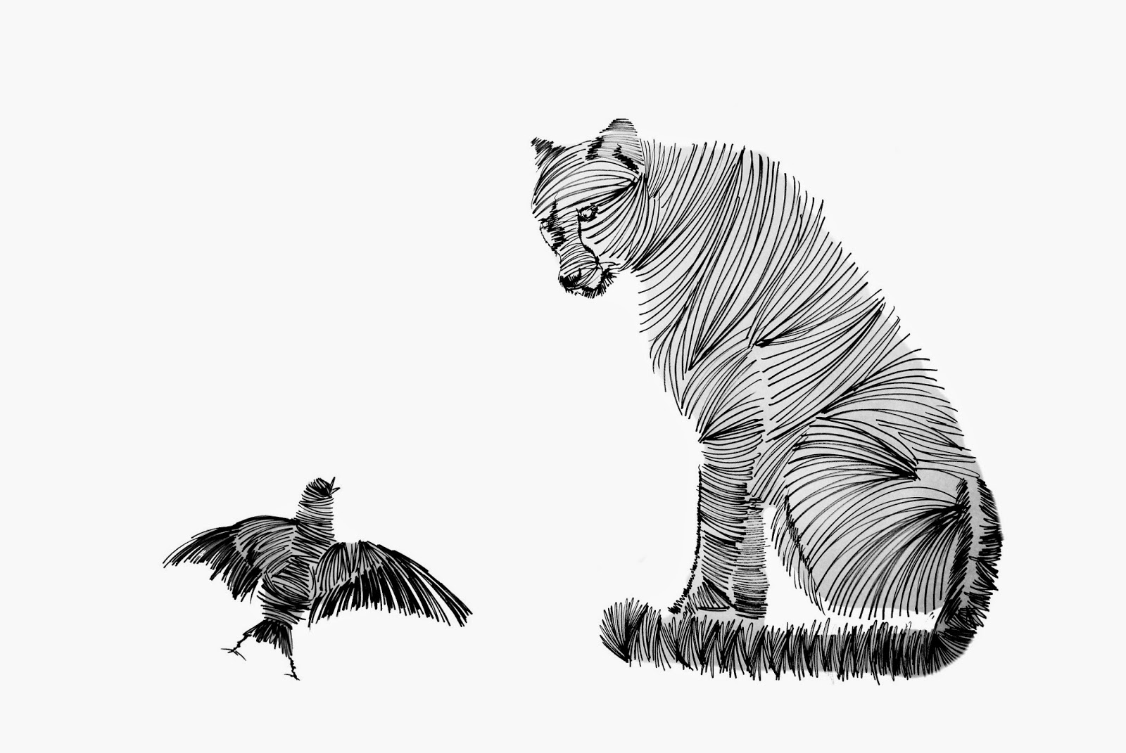Line Drawing Jaguar : Project holy cow new york by mr caution artist singh drawings