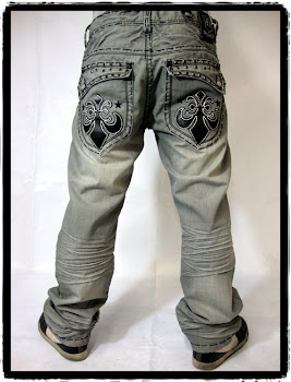 black stitch denim