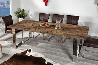 masivny stôl do kuchyne, jedalensky stôl, masivny nabytok, luxusny dizajnovy nabytok