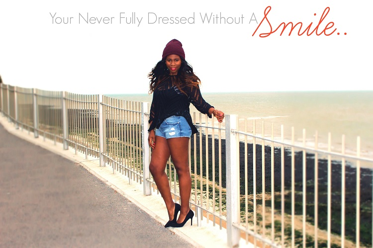 look for less, ootd, your never fully dressed without a smile, fashion quote, beauty quote, fashion guru, black court shoes