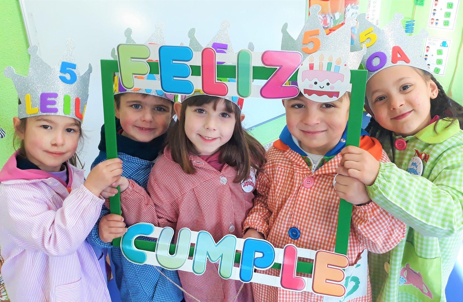 En febreiro celebramos os aniversarios de Leila, Alonso, Marta, Álex e Noa!