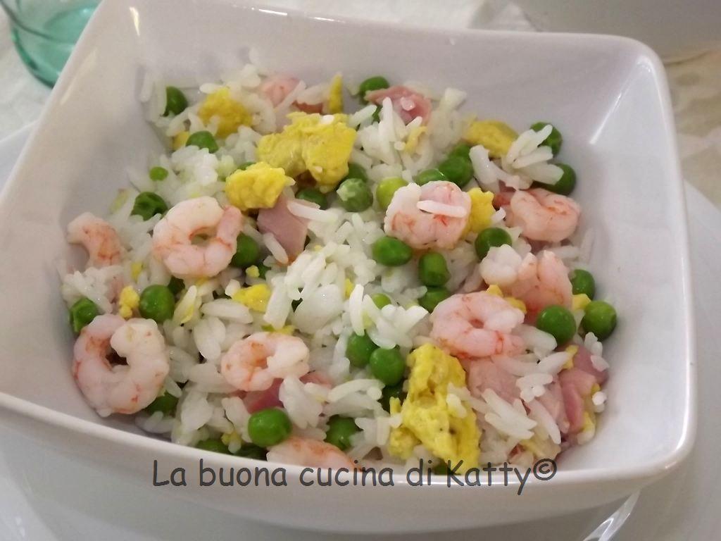 La buona cucina di katty riso alla cantonese fatto for Piatto tipico cinese