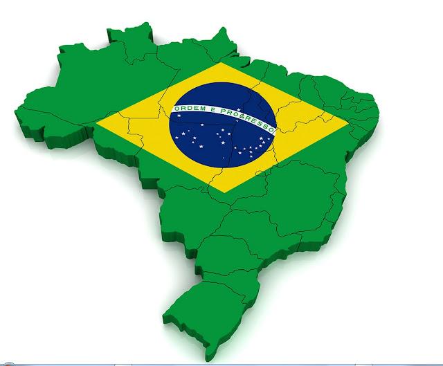 Brazil Flag Map 2015