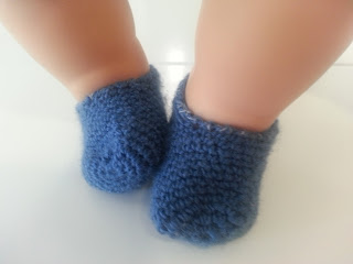 Doll crochet slippers